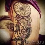 Dreamcatcher tatouage sur les côtes - une photo avec un tatouage sur l'exemple 03022016 4