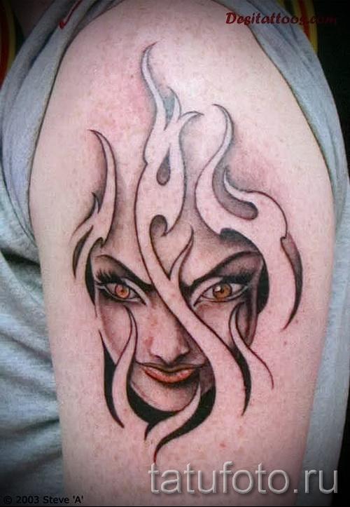 Flamme Tattoo Muster - Foto Beispiel für die Auswahl von 28022016 1