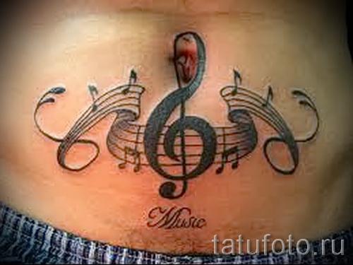 Muster auf dem Bauch Tattoo - Foto Beispiel für die Auswahl von 28022016 3