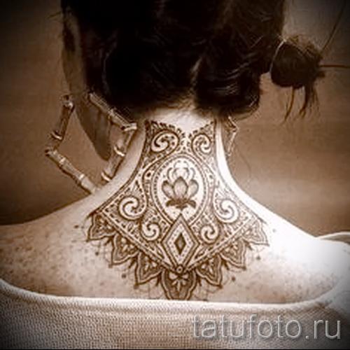 Muster auf den Hals tätowieren - Foto Beispiel für die Auswahl von 28022016 4