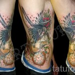 Old School Tattoo auf den Rippen - Foto Beispiel für eine Tätowierung auf 03022016 1