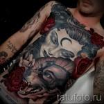 Old School Tattoo auf den Rippen - Foto Beispiel für eine Tätowierung auf 03022016 2