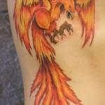 Phönix Tattoo - ein Foto des fertigen Tätowierung auf 11022016 1