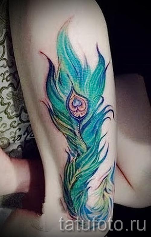 Phönixfeder Tattoo - ein Foto des fertigen Tätowierung auf 11022016 3