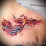 Phoenix Tätowierung Aquarell - Foto des fertigen Tätowierung 11022016 3