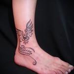 Phoenix Tätowierung Foto auf seinem Knöchel - ein Foto des fertigen Tätowierung 11022016 2