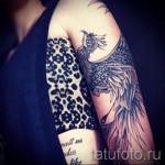 Phoenix Tätowierung auf seinem Arm - ein Foto des fertigen Tätowierung 11022016 2