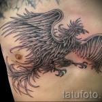 Phoenix Tätowierung auf seiner Brust - ein Foto des fertigen Tätowierung 11022016 2
