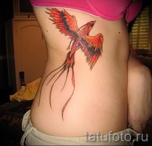 Phoenix Tätowierung für Mädchen - ein Foto des fertigen Tätowierung auf 11022016 2