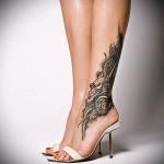 Phoenix Tätowierung für Mädchen - ein Foto des fertigen Tätowierung auf 11022016 3