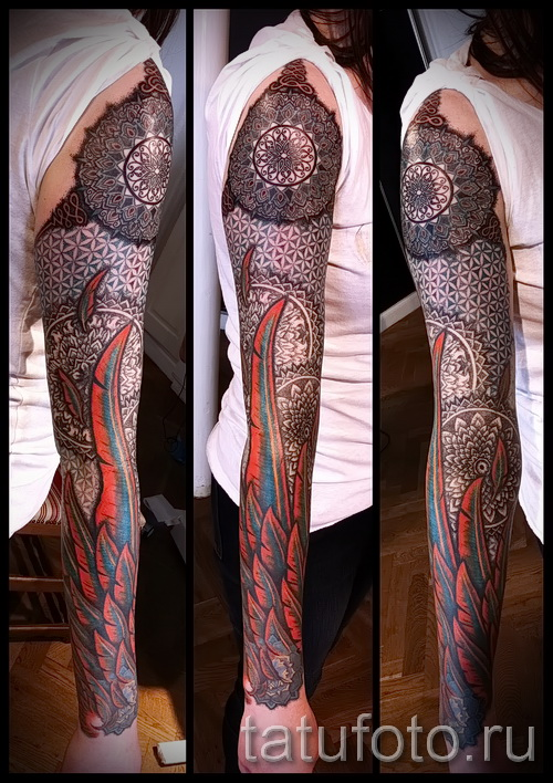 Scandinavian Muster Tattoo - Foto Beispiel für die Auswahl von 28022016 19