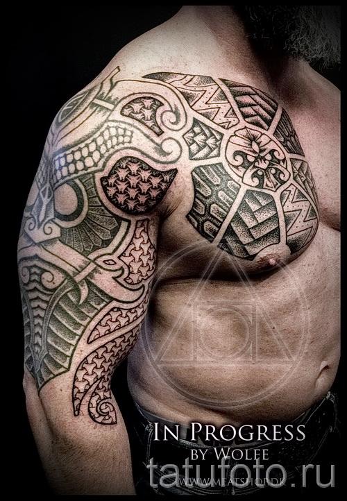 Scandinavian Muster Tattoo - Foto Beispiel für die Auswahl von 28022016 11
