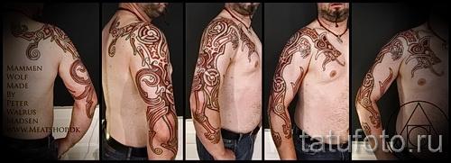 Scandinavian Muster Tattoo - Foto Beispiel für die Auswahl von 28022016 5