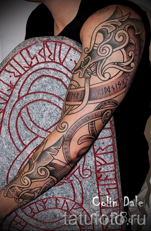 Scandinavian pattern tattoo - Photo example for the selection of 28022016 2