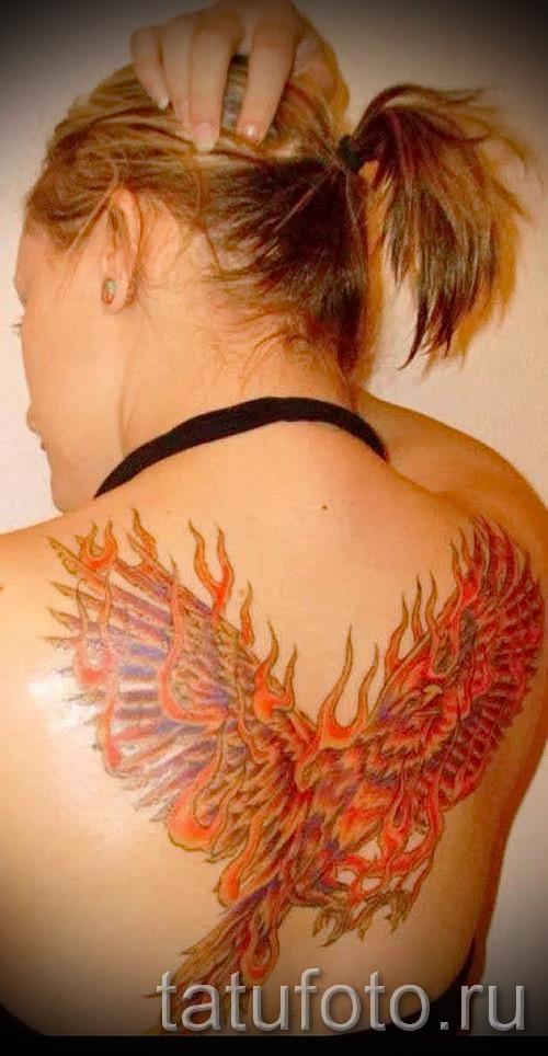 Tattoo Feuer Phoenix - ein Foto des fertigen Tätowierung auf 11022016 1
