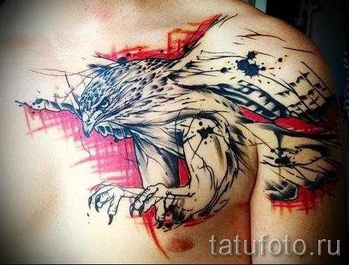 Tattoo-Muster auf der Brust - ein Foto-Beispiel für 28022016 wählen 2