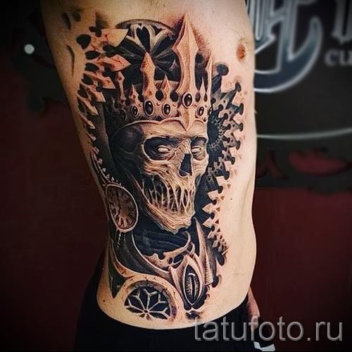 Tattoo auf den Kanten der Krone - Bild mit einem Beispiel eines Tattoo-03022016 2
