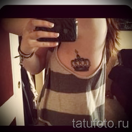 Tattoo auf den Kanten der Krone - Bild mit einem Beispiel eines Tattoo-03022016 3