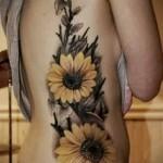 Tattoo auf den Rändern der Blumen - Foto Beispiel für eine Tätowierung auf 03022016 2