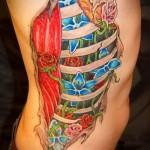 Tattoo auf den Rändern der Blumen - Foto Beispiel für eine Tätowierung auf 03022016 3