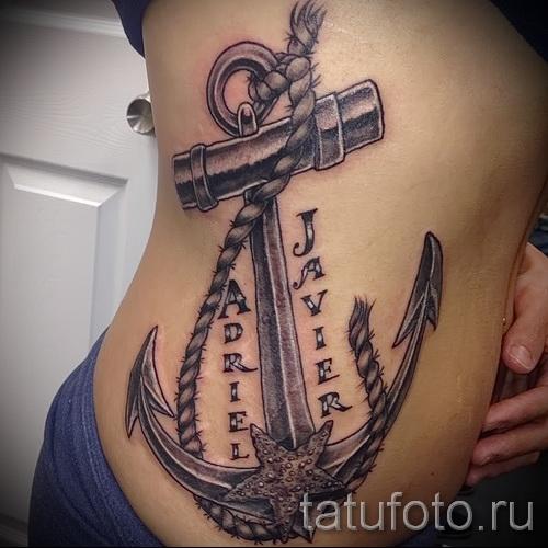 Tattoo auf den Rändern der Namen - ein Foto mit einer Tätowierung auf dem Beispiel 03022016 1