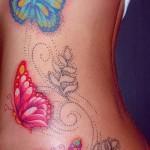 Tattoo auf den Rändern der Schmetterling - Foto Beispiel für eine Tätowierung auf 03022016 1