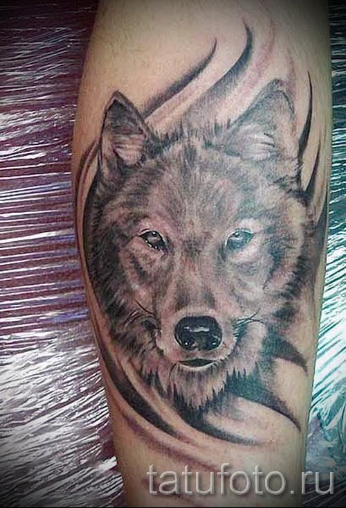 Тату эскиз волк на руку