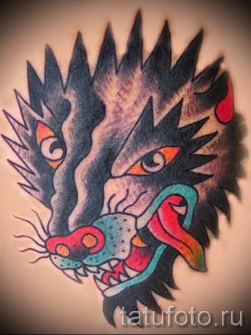 Wolf Tattoo-Muster - Foto Beispiel für die Auswahl von 28022016 3