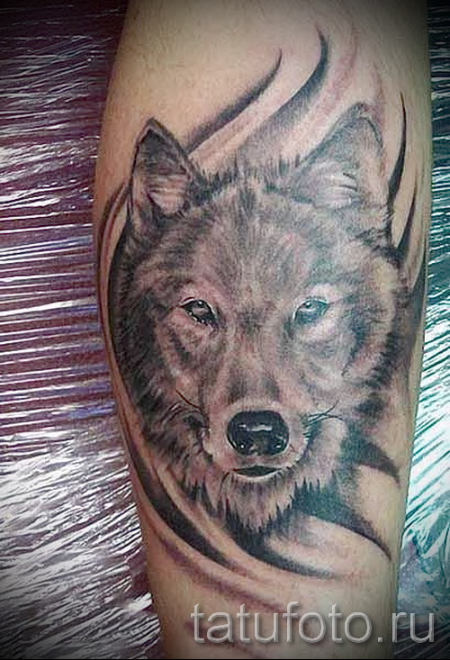 Wolf Tattoo-Muster - Foto Beispiel für die Auswahl von 28022016 5
