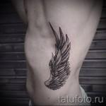 an den Rändern der Flügel Tattoo - Foto Beispiel für eine Tätowierung auf 03022016 2