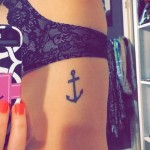 anchor tattoo on the ribs - a photo with a tattoo on the example 03022016 2