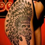 feather tattoo on his thigh girls pictures 1