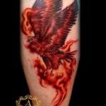 feu de tatouage phoenix - une photo du tatouage fini sur 11022016 2