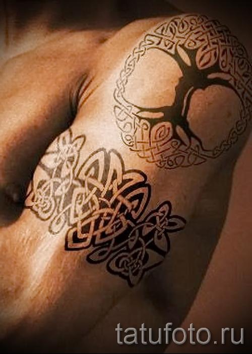 motif de tatouage celtique sur l'épaule - un exemple d'une photo pour choisir parmi 28022016 1