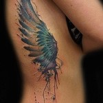 on the ribs wings tattoo - Photo example of a tattoo on 03022016 3