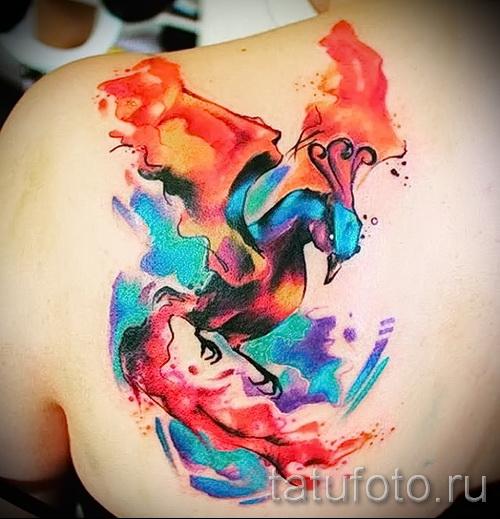 phoenix tatouage aquarelle - photo du tatouage fini 11022016 1