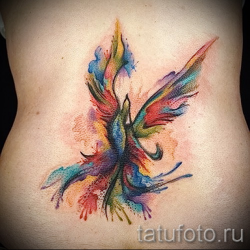phoenix tatouage aquarelle - photo du tatouage fini 11022016 3