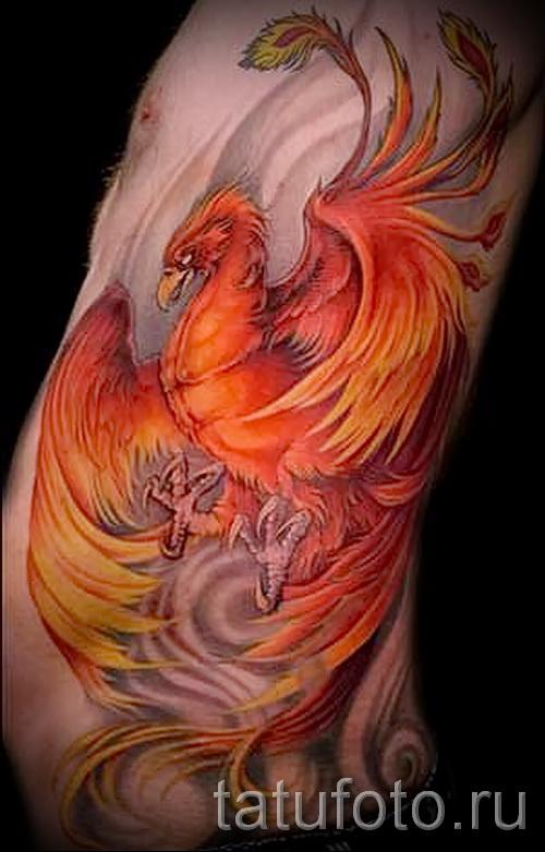 phoenix tatouage sur la hanche - une photo du tatouage fini 11022016 1