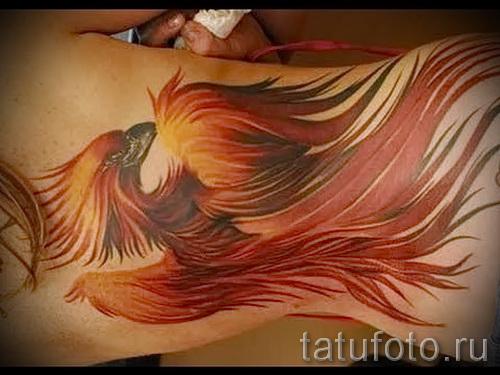 phoenix tatouage sur la hanche - une photo du tatouage fini 11022016 3