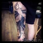 phoenix tatouage sur la jambe - une photo du tatouage fini 11022016 2