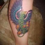 phoenix tatouage sur la jambe - une photo du tatouage fini 11022016 3