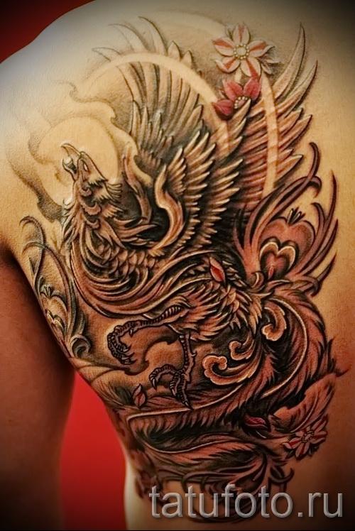 phoenix tatouage sur le dos - une photo du tatouage fini 11022016 2