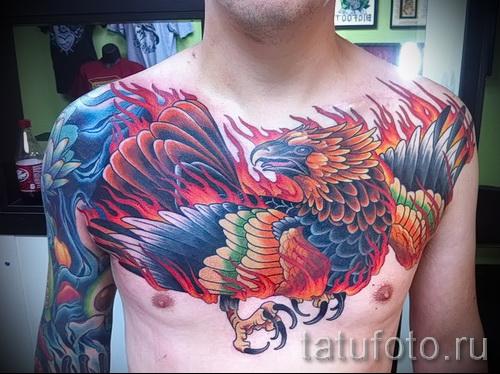 phoenix tatouage sur sa poitrine - une photo du tatouage fini 11022016 1