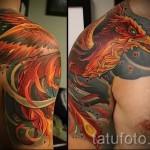 phoenix tatouage sur son épaule - une photo du tatouage fini 11022016 2