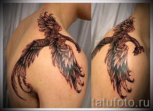 phoenix tatouage sur son épaule - une photo du tatouage fini 11022016 3