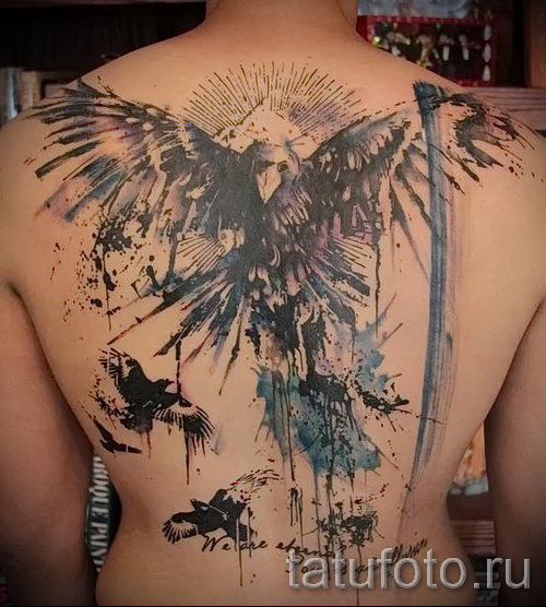 phoenix tattoo abstraction 1
