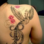 phoenix tattoo for girls - a photo of the finished tattoo on 11022016 2