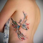 phoenix tattoo for girls - a photo of the finished tattoo on 11022016 3