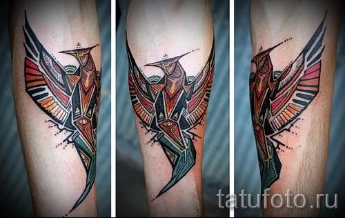 phoenix tattoo geometry - a photo of the finished tattoo on 11022016 1