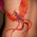 phoenix tattoo on her hip - examples of finished tattoo photos 01022016 5